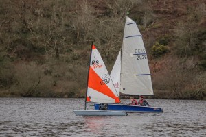 Junior Peter Cope (he's the one with the tiny sail!)