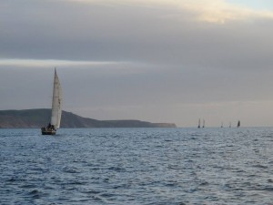 The fleet heading to the Point of Ayre